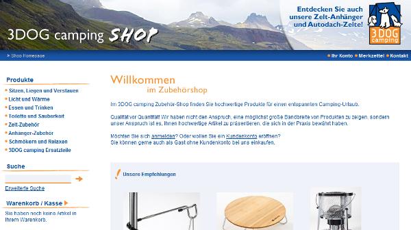 3DOG camping Online Shop